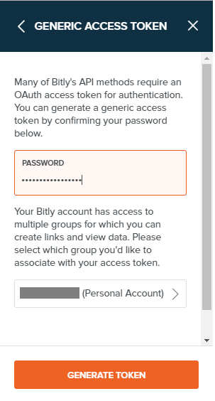 Bit.ly access token